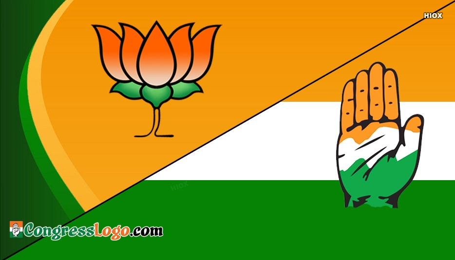 BJP Vs Congress Logo Pictures, Images