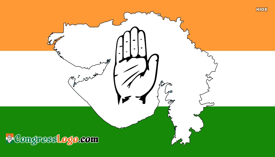 Congress Logo Gujrat