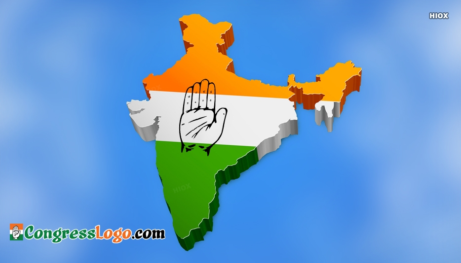 Congress Logo India Map